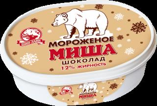 Шоколадное мороженое в ванночке
