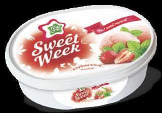 SWEET WEEK – клубничный пломбир на основе натуральных сливок в ванночке