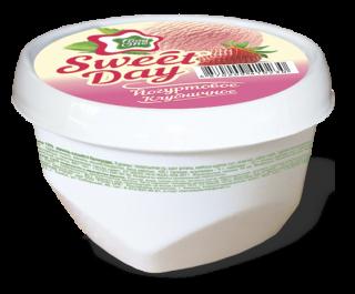 SWEET DAY – йогуртовое мороженое со вкусом клубники в мини-ванночке