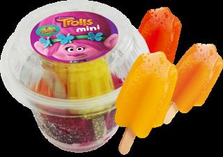 Мини-фруктовый лед со вкусами апельсина, клубники и тропик-микса