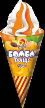 Бомба конус абрикосовый